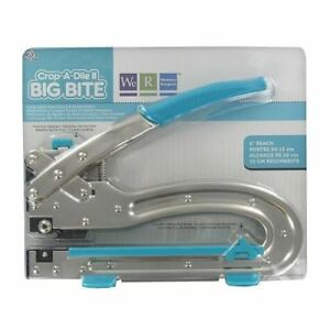 We R Memory Keepers Crop-A-Dile II Big Bite Punch Multipurpose Tool Sky Blue Han