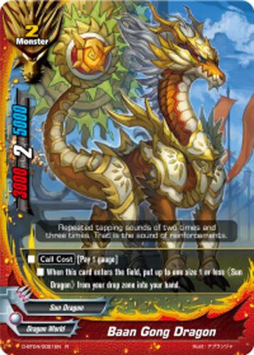 D-BT04//0021EN R English Mint Future Card Buddyfight x 4 Baan Gong Dragon