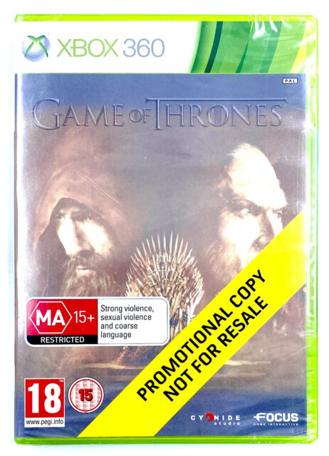 Game of Thrones Promo Presse Jeu Microsoft Xbox 360 PAL UK Neuf Scellé