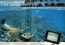 PUBLICITE ADVERTISING 106  1983  Grundig  (2p)  téléviseur couelur Monolith *
