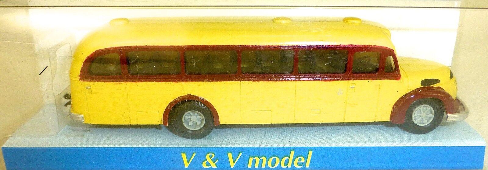1953 Gräf und Stift 120 FON ÖBB gelb rot Bus Omnibus H0 1 87 V&V 2341 GD4 å