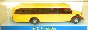 1953-Graf-and-Pen-120-Fon-OBB-Yellow-Red-Bus-Omnibus-H0-1-87-V-amp-v-2341-GD4-A