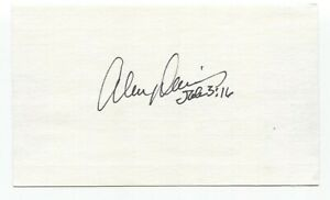 Alvin Davis Signed 3x5 Index Card Baseball Autographed Seattle Mariners
