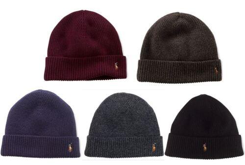 NWT Ralph Lauren Merino Wool Cuff Beanie Hat One Size