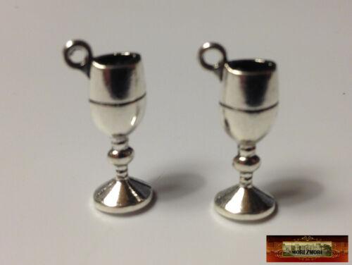 M01402x5 MOREZMORE 10 Miniature Wine Glasses Goblets Mini Doll Dollhouse Prop