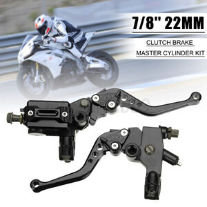 R 2x 7//8/'/' 22MM Motorcycle Universal Brake /& Clutch Master Cylinder Lever L