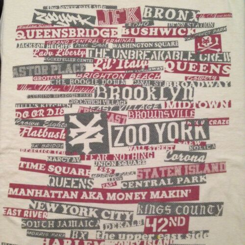 VINTAGE ZOO YORK - PLACES IN NEW YORK T SHIRT SMAL