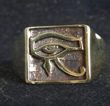 Bronze Eye of Horus Ring Custom Size Ancient Egyptian Talisman Occult R-25b