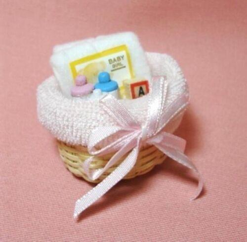 Dollhouse Miniature Nursery Basket