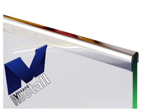 Einfassprofil für Glas 1,5 mm L= 1000 mm Edelstahl 1.4301  spiegelnd.
