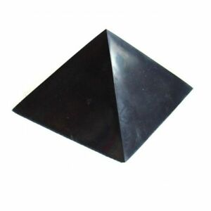 "BEST!! Polished Shungite Pyramid 60x60mm (2,36""x2,36"") Schungite  RUSSIA"