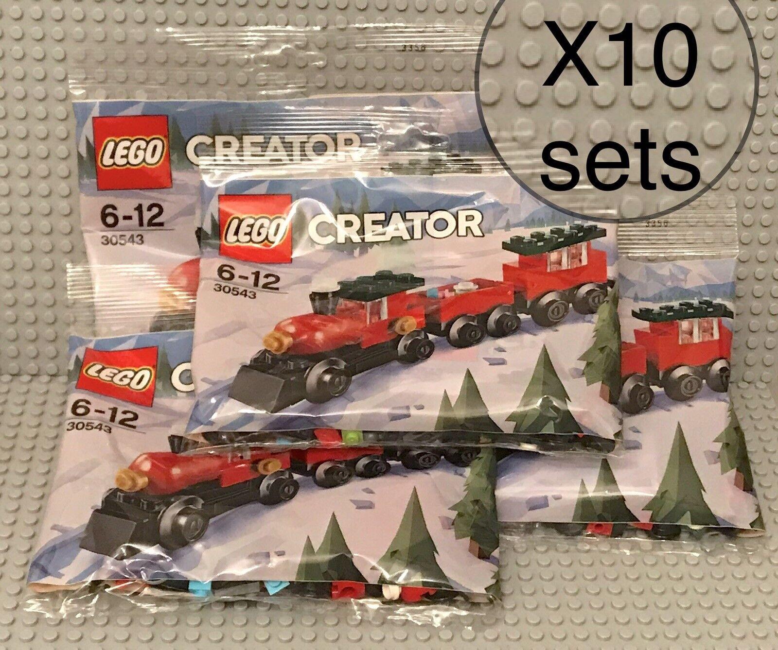 Lego X10 Sets nuovo 30543 Creator Holiday Christmas Train    Holiday Mini Poly borsa  spedizione veloce e miglior servizio