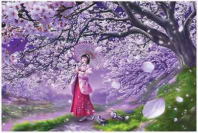"Jigsaw Puzzles 1000 Pieces ""Sakura of the wind"" / SHU Mizoguchi"