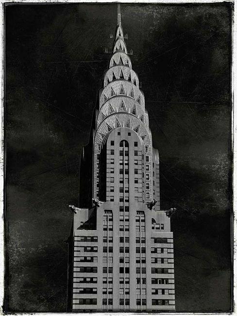Dylan Matthews  Chrysler Keilrahmen-Bild Leinwand Hochhaus New York Building