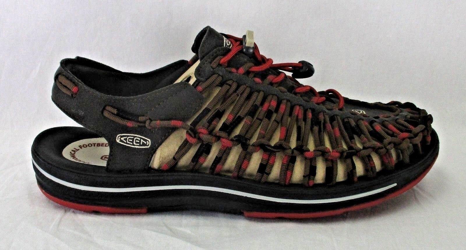 Sandali e scarpe per il mare da uomo Keen uomos Uneek Stipes 1014620 Dahlia Raya Size 10
