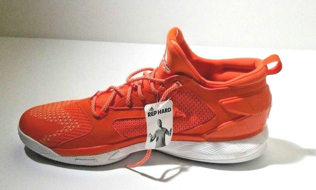 Adidas para hombre Dame Suela 2 Boost Primeknit Baloncesto Zapato Suela Dame Naranja/Blanco 7ec35c