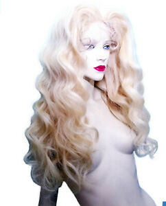 Lightest-Blonde-60-Body-Wave-Silk-Top-Full-Lace-Wig-Human-Hair-Remi-Remy-Long