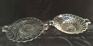 Fostoria-COLONY-Double-Handled-Serving-Plate-amp-Bowl
