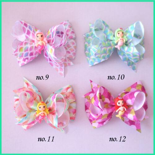 "30 Girl 3.5/"" Birthday Hair Bow Crown Heart Ice Cream Doughnut Lollipop Mermaids"