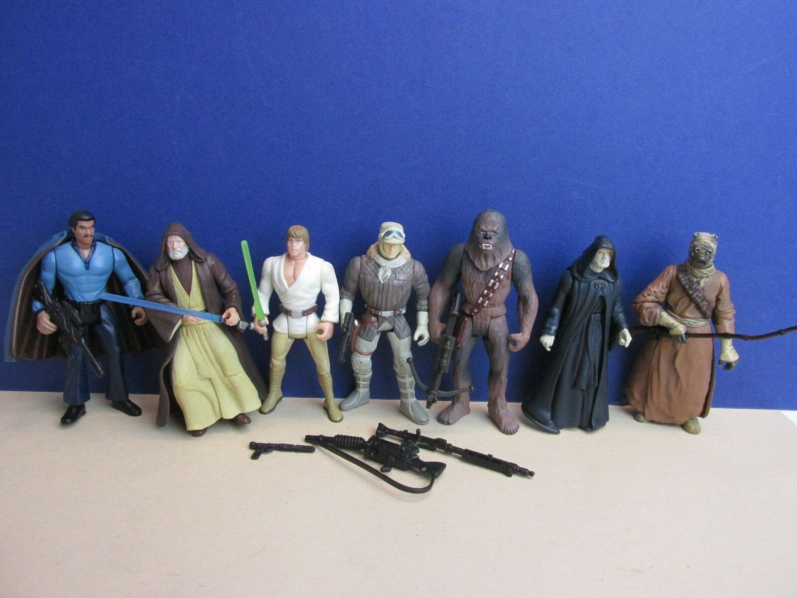 Star wars NEW HOPE potf ACTION FIGURE lot TUSKEN LUKE HAN LANDO OBI WAN 1997 G63