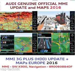 audi mmi 3gp, mmi 3g+, mmi 3 g plus (disque dur), mise à jour 2016