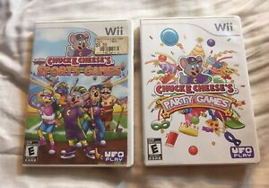 Chuck E Cheese's Sports Games & Party Games Nintendo Wii Lot Complete & TESTED