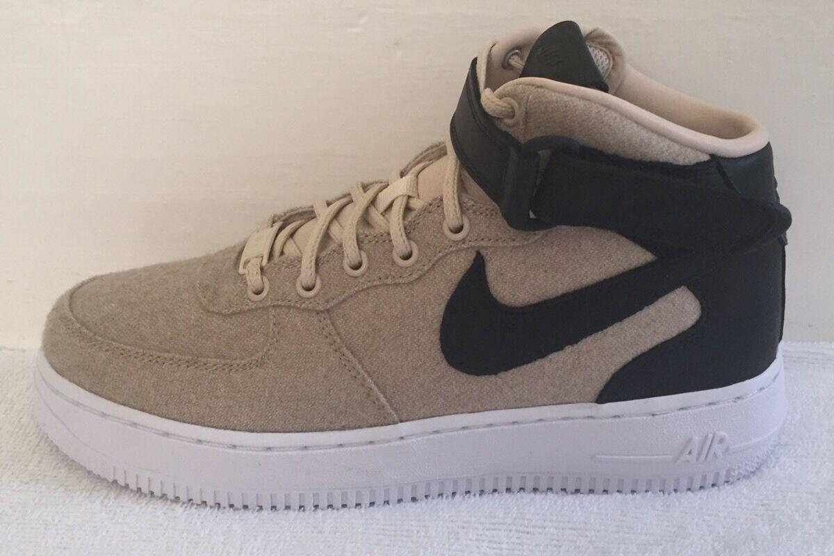 Nike Air Force 1'07 Mid Premium De Cuero (Reino Unido) Nuevo Y En Caja