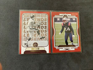 MIKE DITKA and STEPHON GILMORE 2021 Panini Legacy Football #/299 RED Parallel