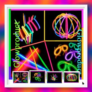 500-8-FLUORESCENT-GLOW-STICKS-GLOW-BALLS-GLOW-GLASSES-PARTY-FAVORS-BRACELETS