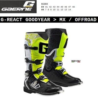 Stivali enduro cross moto GAERNE GX1 GOODYEAR OFFROAD white black yellow 2184019