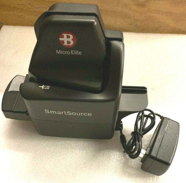 Burroughs SmartSource Series USB Micro Elite Check Scanner Ssm1-microelite