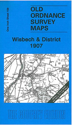 OLD ORDNANCE SURVEY MAP WISBECH 1907 DOWNHAM MARKET HILGAY MARCH WALSOKEN