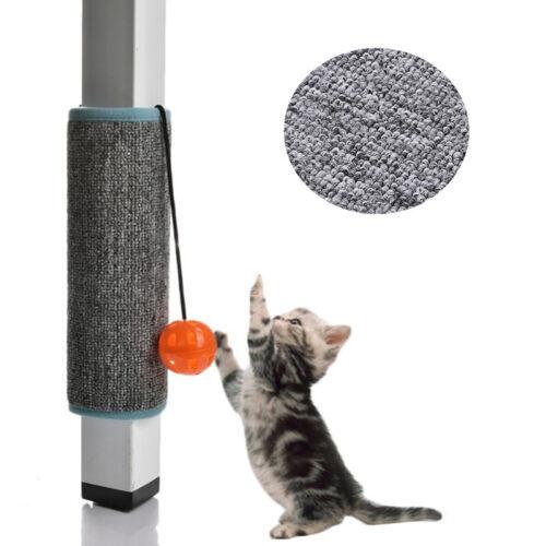 Pet Cat Kitten Scratching Pad Mat Board Sisal Straw Scratcher Post Toy With Ball