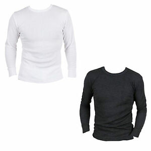 MENS-THERMAL-T-SHIRT-LONG-SLEEVED-WARM-VEST-UNDERWEAR-WHITE-OR-CHARCOAL-S-XXL