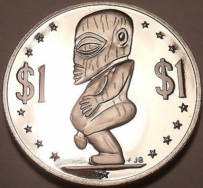 Coins: Ancient Brave Massive Con Prova Cook Isole 1976 Dollaro ~ Tanagora God Of Creation E Other Ancient Coins