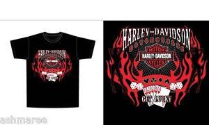 Harley Davidson Flame Roller T-Shirt