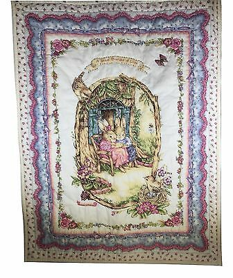 Susan Wheeler Finished Baby Quilt Sweet Bundle of Love Bunny 39.5 by 30.5 Inches