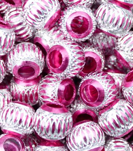 Großlochperlen Modulperle Perle 12 mm Aluminiumperlen Farbauswahl Antik 10 Stück