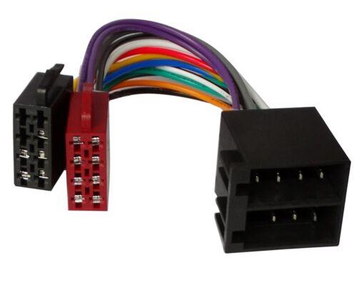 Cable extensión 20cm conector ISO 13PIN 8+5 macho hembra universal de autoradio