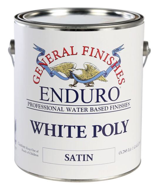 General Finishes Water Based Pigmented White Poly Gallon Satin Or Semi Gloss