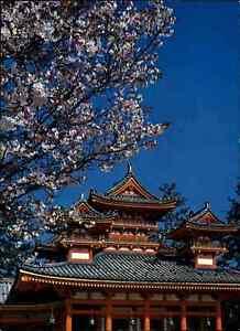 JAPAN-Post-Card-Postkarte-Kyoto-Heian-Shrine-Pagode-Ansichtskarte-color-AK