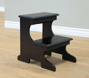 Step Stool Aid Bed Molded Solid Wood Bench Furniture Home Hand Carved Safe Decor