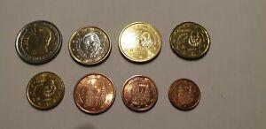 série euro de 1 cent a 2 euro Espagne voir annonce pièces sortie de rouleaux