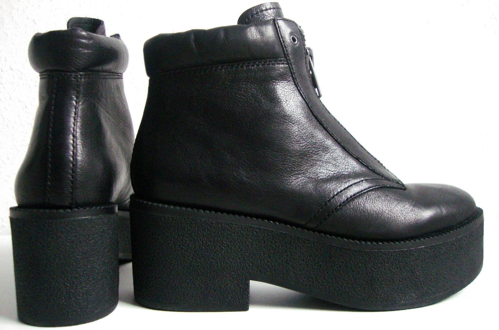 Ash quantum plataforma botines botas señora botín Zapatos Cuero nuevo