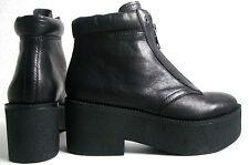 ASH QUANTUM Plateaustiefeletten Boots Damen Stiefelette Schuhe Leder Gr.37 NEU