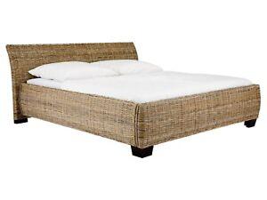 Rattanbett 180x200 Betten Komforthöhe Kubu grey Schlafzimmer Neu ...