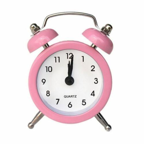 Small Square Digital Wooden LED Alarm Clock Wood Retro Glow Clock Desktop Table