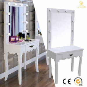 Image Is Loading Framed Lighted Makeup Vanity Mirror With Lights Free