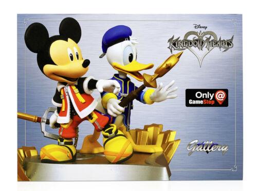 Disney Kingdom Hearts Topolino Paperino Galleria Statuetta Statua – Esclusivo