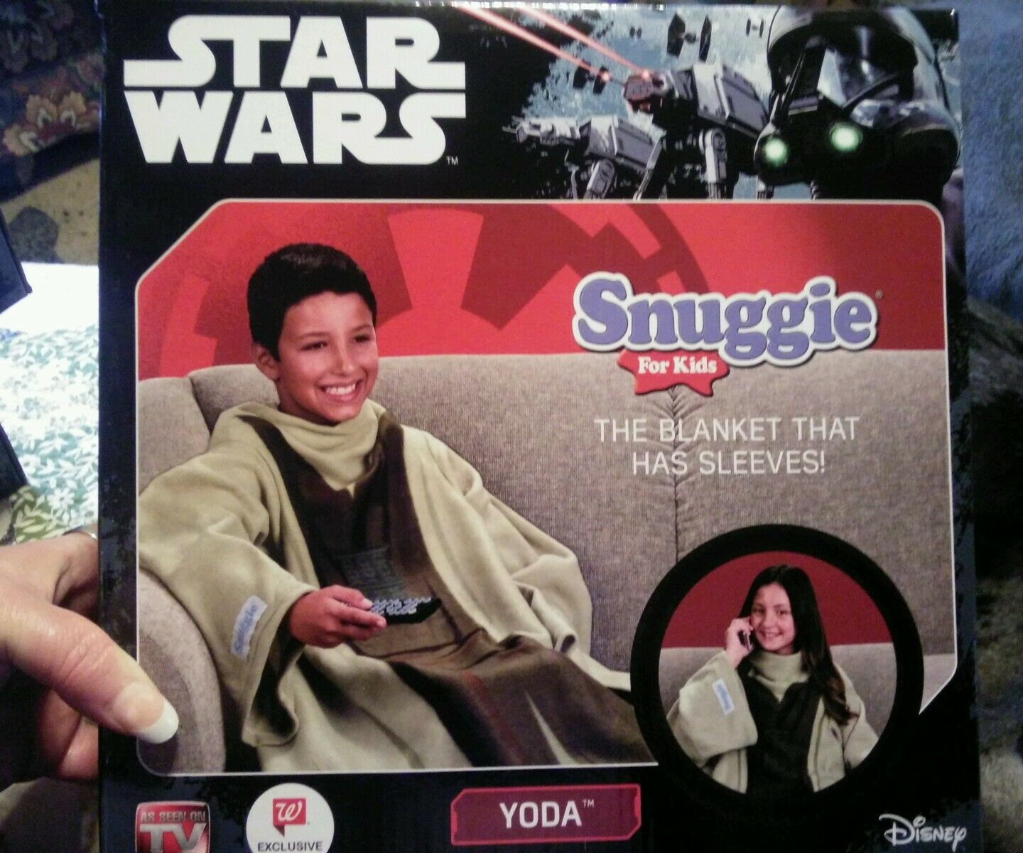 Disney Star Wars Snuggie for Kids Yoda New/ The Blanket That Has ...